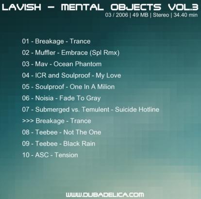 Lavish - Mental Objects Vol.3 - Back